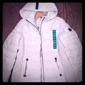 Nautica puffer jacket with hood